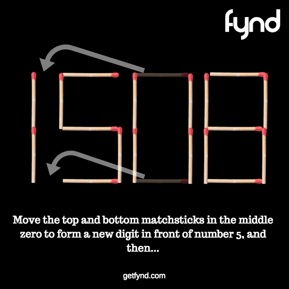 Fun Quiz! If you can only move two matches, what is the
